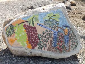אבן בשיבוץ פסיפס, רמת מגשימים